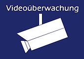 Warnaufkleber Video�berwachung