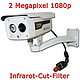 IP-Infrarotkamera, 1080p, H.264, 2MP, IR-Cut, IP65 / QC-Cam-H3003