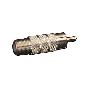 Cinch-Stecker / F-Buchse Adapter