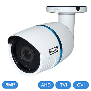 AHD / TVI / CVI-IR-Bulletkamera 5MP, IP66, OSD / QC-LBN24
