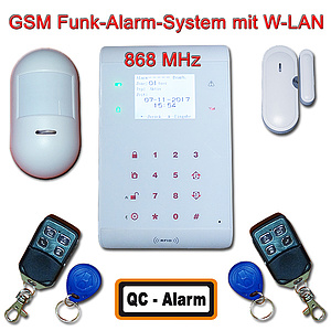 GSM W-LAN Alarm-System 868 MHz LED Display / QC-AlarmGuard 11