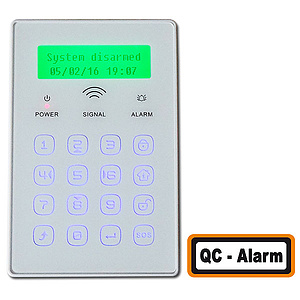 Funk-Touch-Keypad 868 MHz mit LCD-Display / JP-08C