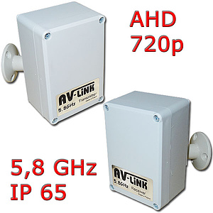 AHD-Funk-Set 5,8 GHz, Video 720p, IP65 / AV-300AHD
