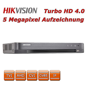 Hikvision 5 MP Turbo DVR 8 CH, TVI, AHD, CVI, CVBS + 2 IP / DS-7208HUHI-K1