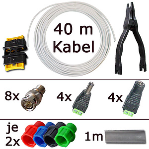 Video-Kombi-Kabel Selbstbau-Kit für 4 Kabel